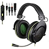 SUPSOO G830 Xbox one Gaming Headset 3.5 mm Wired Over Ear PS4 Headset with Microphone Noise Cancelling Gaming Headphones for PC, PS4, PS4 PRO, Xbox One, Xbox One S(Black) (Color: Headset 7)