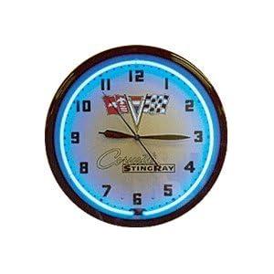 Corvette Stingray Neon Sign on Amazon Com  Corvette Stingray Neon Clock 20  Home Improvement