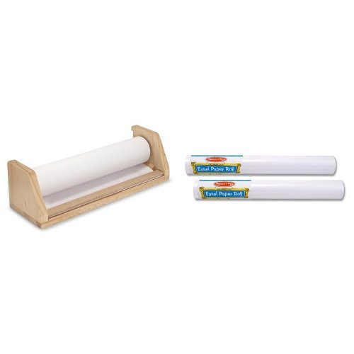 Melissa & Doug Tabletop Paper Roll Dispenser and Easel Paper Roll- 18