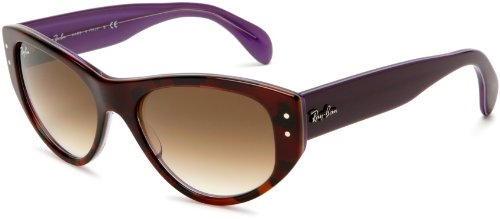 Ray-Ban RB4152 Vagabond Cateye Sunglasses 53 mm, Non-Polarized, Havana/Gradient