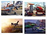 Disney Pixar Planes Exclusive Limited Edition 2013 Movie Lithograph Set Including 4 Lithos & Storage Folder