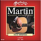 Martin 80/20 Bronze Standard Acoustic Guitar Strings Set from Martin