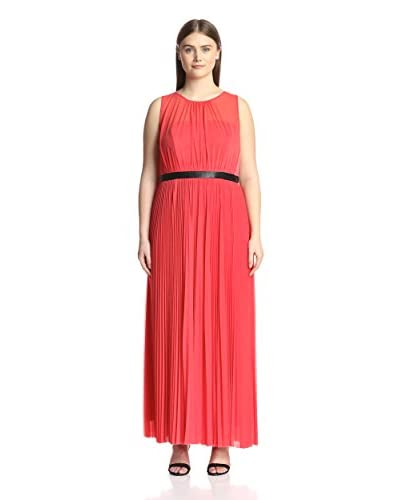 A.B.S. by Allen Schwartz Plus Women's Sheer Pleated Gown