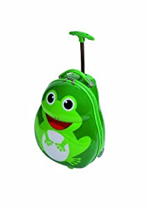 Kids Frog Trolley Animal Designs Luggage Childrens Travel Suitcase Case 44cm