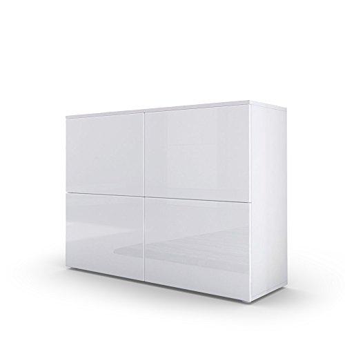 Kommode-Sideboard-Rova-in-Wei-matt-Wei-Hochglanz-Wei-Hochglanz