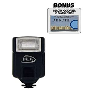 318AF Digital Slave Flash For Use For The Sony Cybershot DSC-R1, DSC-F828, DSC-F717, DSC-F707, DSC-CD350, DSC-S85, DSC-S75, DSC-S70, DSC-S30, DSC-S50 Digital Cameras