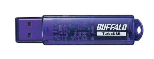 BUFFALO ターボUSB機能搭載 USBメモリー スタンダードタイプ ブルーモデル RUF-C16GS-BL/U2