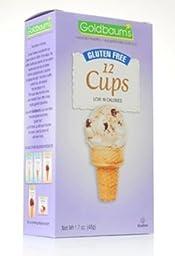 Goldbaum\'s Gluten-Free Ice Cream Cone Cups, 1.76 OZ [CASE OF 12]