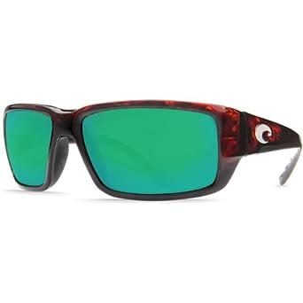 Costa Del Mar Fantail Men's Polarized Sunglasses, Tortoise/Green Mirror Glass - W580, Medium