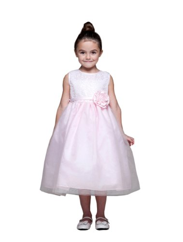 Review Starlet Shimmer Party Dress for Girls with Sequin and Toole 3 Colors Fancy Dress Color: Pink Dress Size: 4T  Review