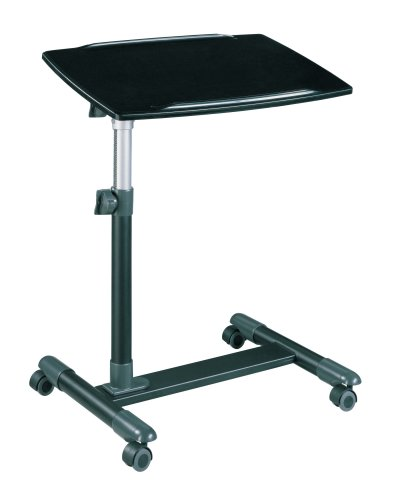 Noir Laptop Stand In High Gloss Black Finish Altra Furniture 9225196Stylish  Laptop Stand That Will Adjust To The Height And Angle That You Are  Comfortable ...