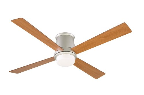 Fanimation FPS7880SN Inlet Ceiling Fan, Satin Nickel Finish, 4 Reversible Cherry/Walnut Blades