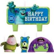 Imagen de Monsters Universidad Feliz cumpleaños moldeado Candle Cake set de 4