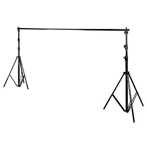 CONDOR set di 2 stativi e barra in metallo portafondale per fondale sala di posa