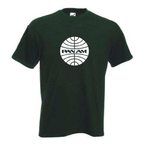 poele-am-classique-americain-panam-airlines-t-shirt-vert-foret-homme-xxl