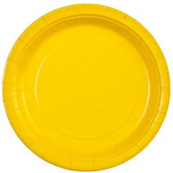 Sunshine Yellow 9'' Paper Plates (Sold by 1 pack of 36 items) PROD-ID : 1852886