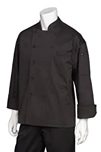 Chef Works EWCB Zurich Executive Chef Coat, X-Small, Black