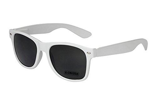 X-CRUZE® 8-004 Nerd Sonnenbrille Style Stil Retro Vintage Retro Unisex Herren Damen Männer Frauen Brille Nerdbrille - weiß