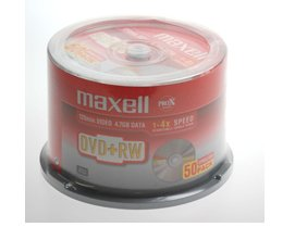 Maxell DVD+RW, 4.7Gb, 4,x Spindle 50, rewritable, maxell dvdrw, blank, 50 pack