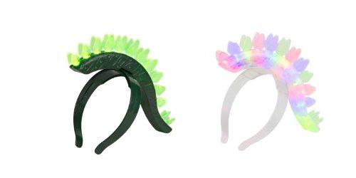 WeGlow International Dino Headband, Green/Clear