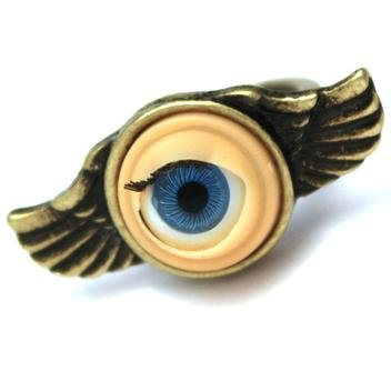 Seasons Online Steampunk Winged Doll Eye Ring (Medium)