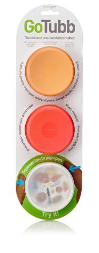 humangear-gotubb-3-pack-medium-2oz-clear-orange-red