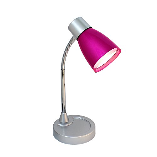 Limelights LD2003-PNK Flashy Flexible Gooseneck LED Desk Lamp, Metallic Pink (Desk Lamps For Kids compare prices)