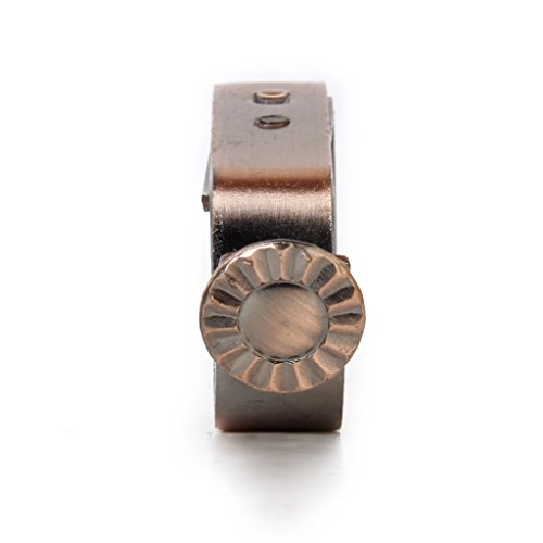 2pcs Supports de Tringle à Rideau en Métal Réglable pour 22mm Tringle - Cuivre Rouge