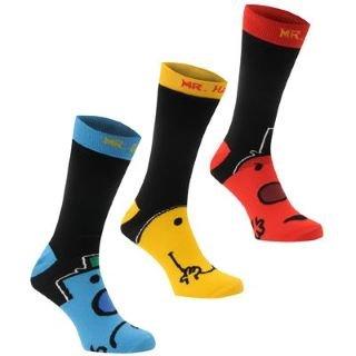 Mr Men Socks 3 Pack (Mens 7-11)