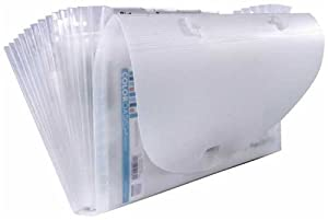 Advantus Cropper Hopper Expandable Paper Organizer, Frost, 7-Inch-by-12-Inch