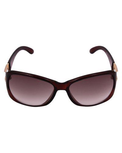 Concepts Women's Square Sunglasses Brown (CON5076 BRN)