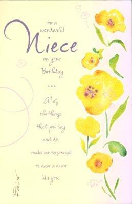 To a Wonderful Niece, Birthday Greetings Card