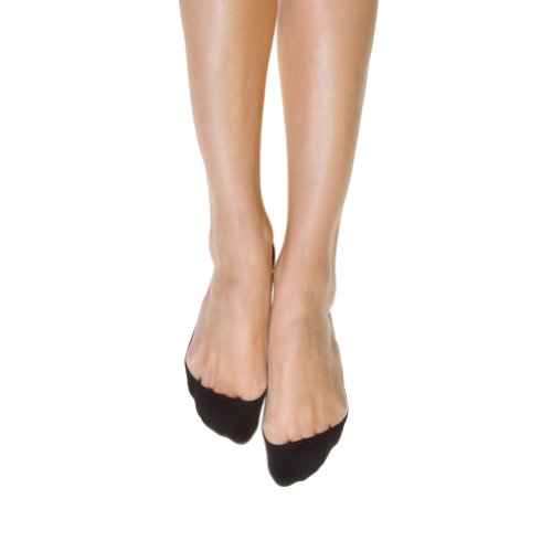 Angelina 6-Pair No-Show Liner for Ballet Flats w/ Silicone Grip, SK03, Black/White/Beige, Lady's One Size (Angelina Ballerina Clothes compare prices)