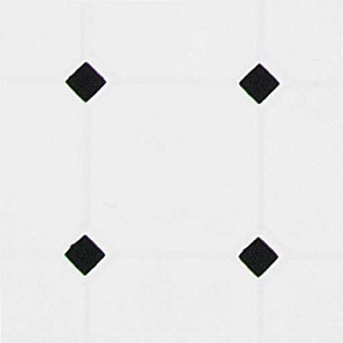 Dollhouse Miniature White & Black Diamond Tile Sheet
