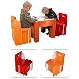 Solid & Durable Children Kids Table & 2 Chair Set