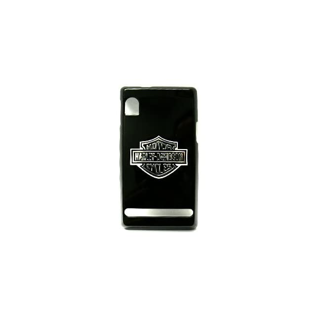 Motorola Droid A855 Harley Davidson Logo on Black Hard Case/Cover/Faceplate/Snap On/Housing/Protector