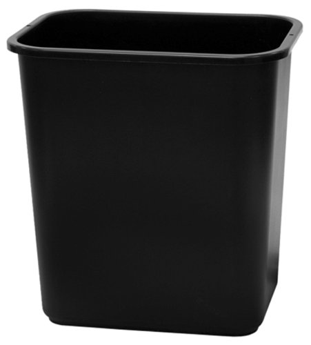 United Solutions WB0057 Black Thirteen Quart Rectangular Office/Indoor Wastebasket - 13QT 3.25 Gallon Trash/Refuse Can in Black for Home, Office or Dorm Room (Desk Trash Can compare prices)
