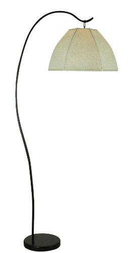"Trend Lighting Bordeaux Arc Floor Lamp, Antique Bronze, 77"" H x 34"" W"