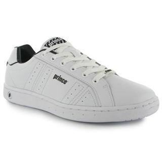 MENS CLASSIC LEATHER TRAINERS WHITE/NAVY