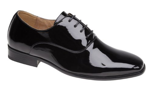 Mens Evening / Uniform / Oxford shoes Black Patent size 11