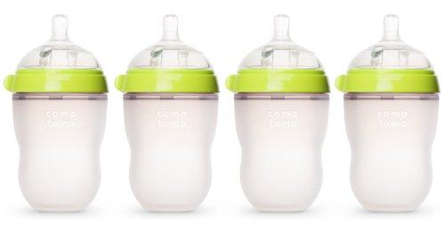 Comotomo Natural Feel 8oz. Bottle, 4 Pack - Green