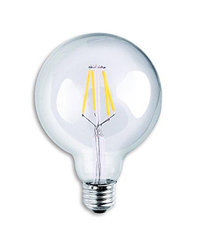Luxrite-LR21236-LED-Filament-G25-Light-Bulb-4-Watt-Equivalent-To-40w-Incandescent-Light-Bulb-G25-Globe-Edison-Style-Light-Bulb-Warm-White-350-Lumens-2700K-260-Beam-spread-degree-15000-Hour-Life-E26-Ba