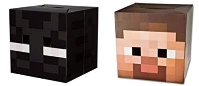 Official Minecraft 12 Steve Enderman Exclusive Head Costume Mask Set Of 2
