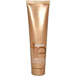 Texture Expert Gelee Riche Anti-Frizz Styling Gelee for Coarse Hair by L'Oreal for Unisex Gel, 5 Ounce
