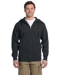 Econscious Ec5650 Mens Organic/Recycled Full-Zip Hood - Charcoal - L front-574723