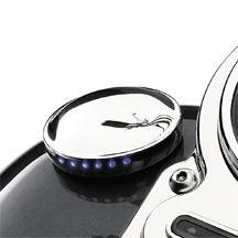 H-D LED Fuel Gauge - Smooth 75242-08
