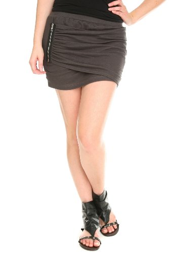 Sweet Love Grey Side Zip Mini Skirt