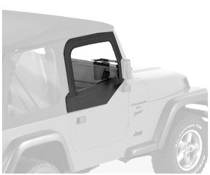 Bestop 53121-35 Black Diamond Fabric Replacement Upper Door Skin Set For 97-06 Wrangler Tj