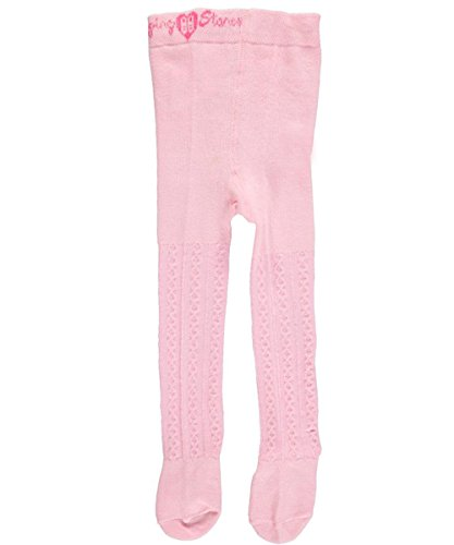 "Flapdoodles Baby Girls ""Cable Construction"" Tights - light pink, 0 - 9 months"