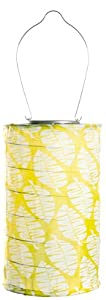 Allsop 30533 11-1/2-Inch Round Soji Printed Solar Lantern, Lime Leaf at Sears.com